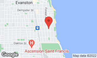 Map of 819 Forest Avenue 3E EVANSTON, IL 60202