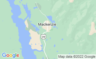 Map of Mackenzie Municipal Campground