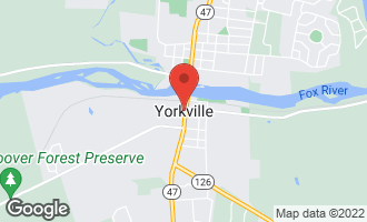 Map of 821 Caulfield YORKVILLE, IL 60560