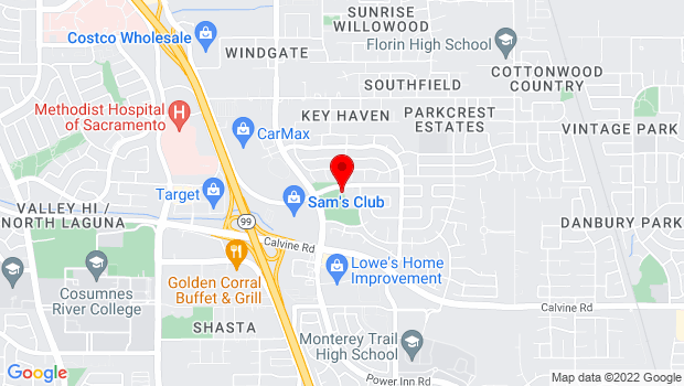 Google Map of 8210 Meadowhaven Dr., Sacramento, CA 95828