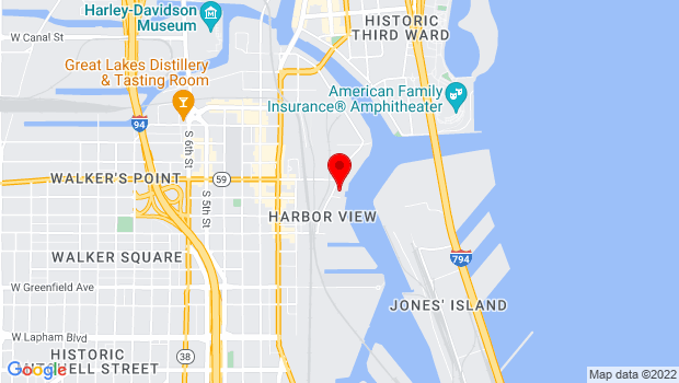 Google Map of 822 S Water St, Milwaukee, WI 53204