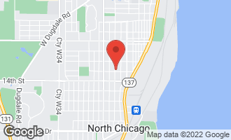 Map of 822 13th Street NORTH CHICAGO, IL 60064