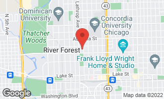 Map of 822 Jackson Avenue RIVER FOREST, IL 60305