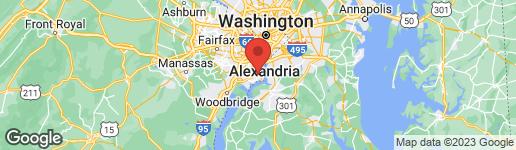 Map of 8230 LA FAYE COURT ALEXANDRIA, VA 22306
