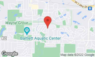 Map of 824 South Prospect Avenue BARTLETT, IL 60103