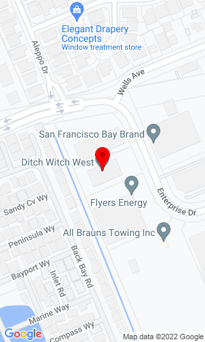 Google Map of Ditch Witch Bay Area 8240 Enterprise Drive, Newark, CA, 94560
