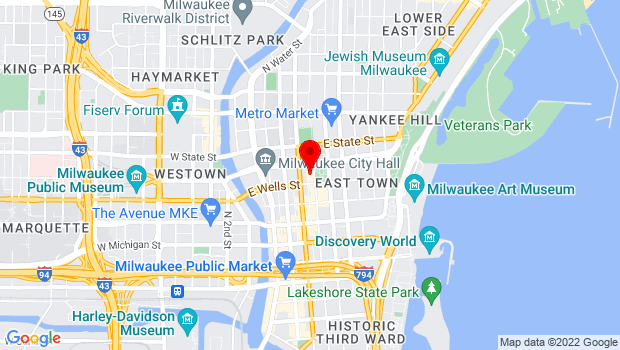 Google Map of 825 N Jefferson St., Milwaukee, WI 53202