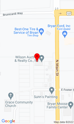 Google Map of Wilson Auction & Realty 825 N Main St, Bryan, OH, 43506