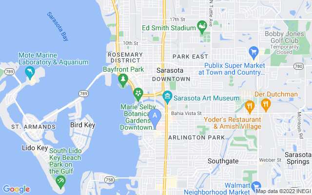 825 S Osprey Ave #102 Sarasota Florida 34236 locatior map