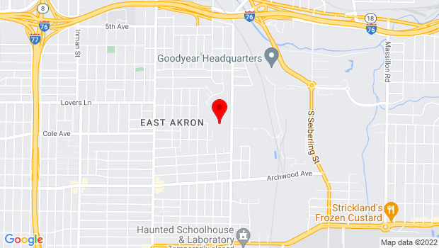 Google Map of 825 Fuller st, Akron, OH 44306