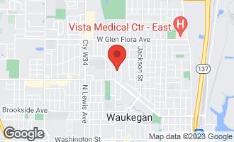 Map of 825 Butrick Street WAUKEGAN, IL 60085