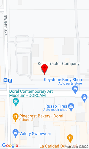 Google Map of Kelly Tractor Co. 8255 NW 58th Street - HQ, Miami, FL, 33166
