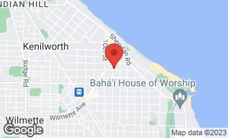 Map of 826 Elmwood Avenue WILMETTE, IL 60091
