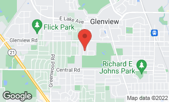 Map of 827 Rolling Pass GLENVIEW, IL 60025