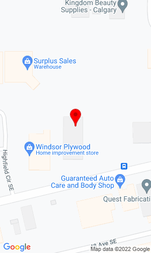 Google Map of Hammer Equipment 828-46th Ave. S.E., Calgary, AB Canada, T2G 2A6