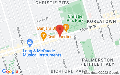 Map of 829 Bloor Street West, Toronto, ON, Canada