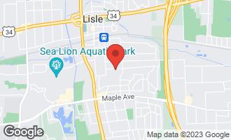Map of 829 Gamble Drive LISLE, IL 60532