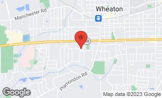Map of 829 Greenwood Drive WHEATON, IL 60189