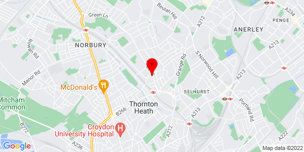 Google Map of 83 Parchmore Road, Thornton Heath, CR7 8LY