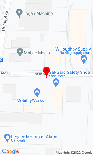 Google Map of Austin Parts & Service 830 Moe Drive    Unit B, Akron, OH, 44310