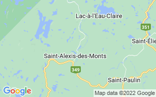 Map of Camping Saint-Bernard - Réserve Faunique Mastigouche