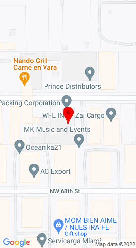 Google Map of B.F. Packing Corp. (M&E Ltd. Frt Co.) 8300 Nw 70Th St., Miami, FL, 33166