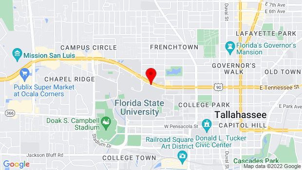 Google Map of 833 Academic Way, Tallahassee, FL 32306