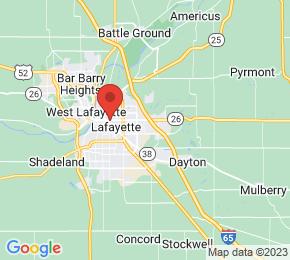 Job Map - 833 PARK E BLVD Lafayette, Indiana 47905 US