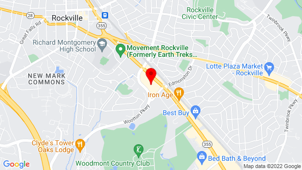 Google Map of 837-D Rockville Pike, Rockville, MD 20852
