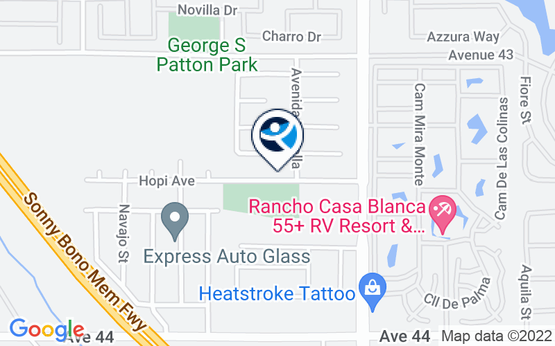 Riverside County Latino Commission on Alcohol/Drug Abuse Casa Las Palmas Location and Directions