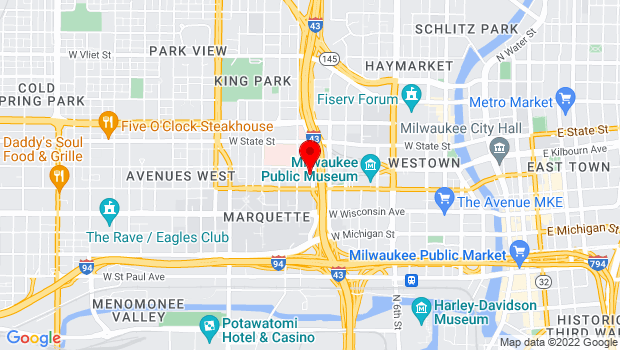 Google Map of 839 North 11th Street, Milwaukee, WI 53233