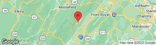 Map of 840 FAIRWAY DRIVE BASYE, VA 22810