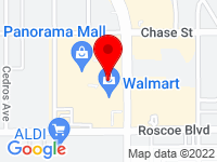 Google Map of 8401 Van Nuys Blvd.