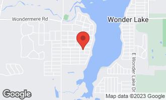Map of 8408 Ramble Road WONDER LAKE, IL 60097
