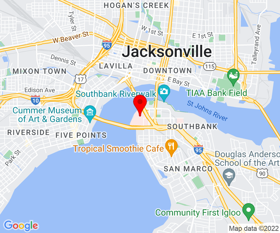 Google Map of 841 Prudential Drive, 12th Floor, Jacksonville FL 32207