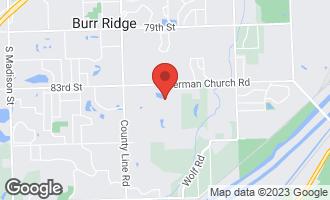 Map of 8410 Arrowhead Farm Drive BURR RIDGE, IL 60527