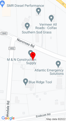 Google Map of M & N Equipment Rentals Inc. 8431 Norcross Road, Colfax, NC, 27235