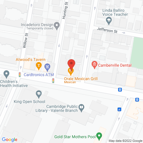 Map of the area around Cambridge Coffee & Pizza