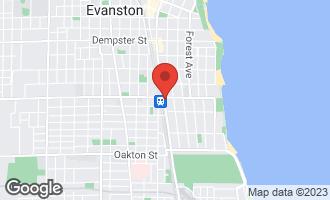 Map of 847 Chicago Avenue #701 EVANSTON, IL 60202