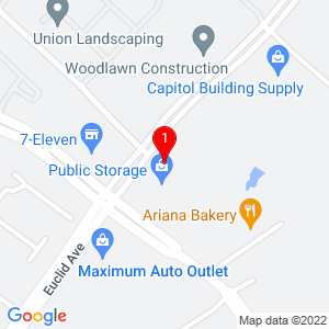 Google Map of 8487 Euclid Ave Manassas Park, VA 20111