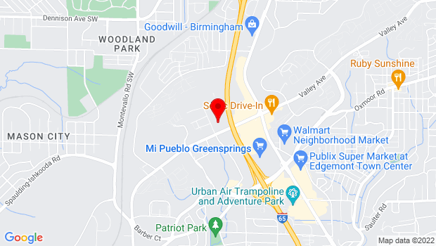 Google Map of 85 Bagby Drive, Birmingham, AL 35209