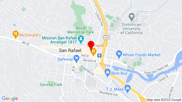 Google Map of 850 4th Street, San Rafael, CA 94901