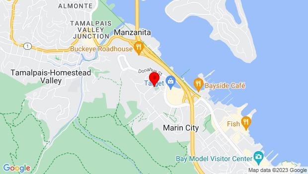 Google Map of 850 Drake Ave., Marin City, CA 94965