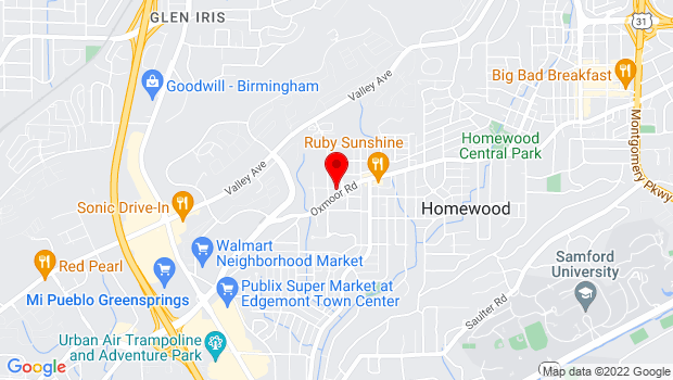 Google Map of 850 Oxmoor Rd, Homewood, AL 35209