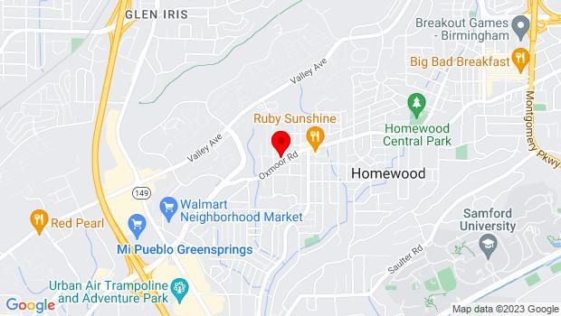 Google Map of 850 Oxmoor Rd, Homewood, AL 35209