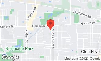 Map of 850 Pinegrove Court WHEATON, IL 60187