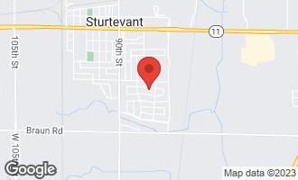 Map of 8503 Queensbury Lane Sturtevant, WI 53177