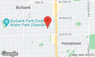 Map of 8536 Lavergne Avenue BURBANK, IL 60459