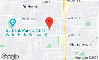 Map of 8536 Leamington Avenue BURBANK, IL 60459