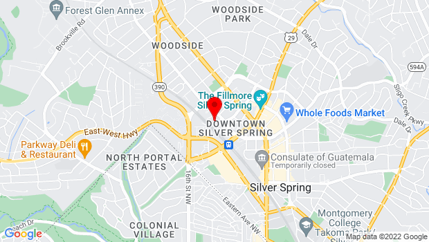 Google Map of 8560 Second Avenue, Suite 113, Silver Spring, MD 20910